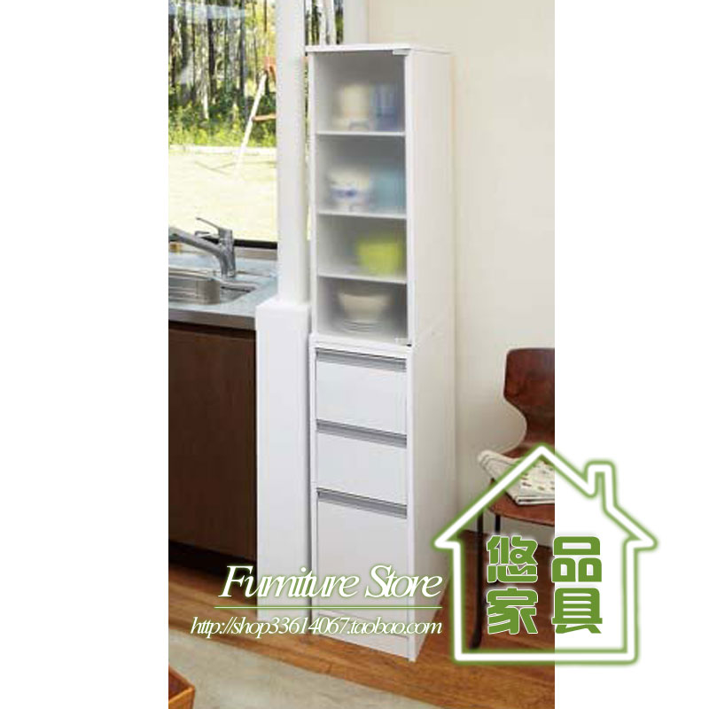 迷你分体侧边柜 带抽屉玻璃门书柜组合 书架类书橱 宜家特价家具图片