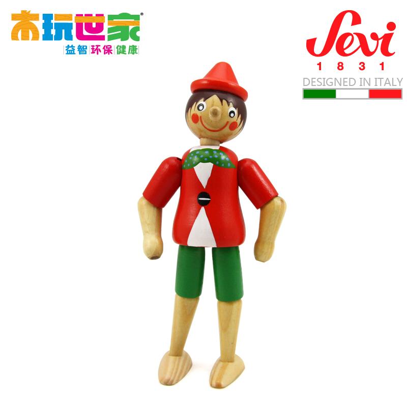 Подвижная модель куклы Wooden play family  Sevi -10cm 81375