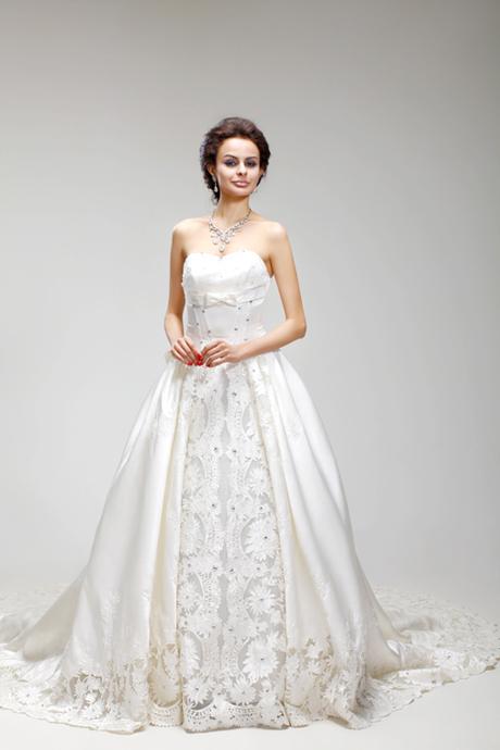 Свадебное платье 0026 TY8859 Другие материалы Длинный шлейф