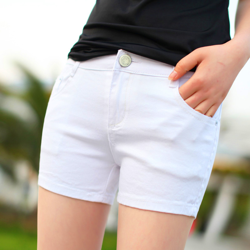 New Korean 2014 summer thin white female summer plus size spandex shorts hot pants
