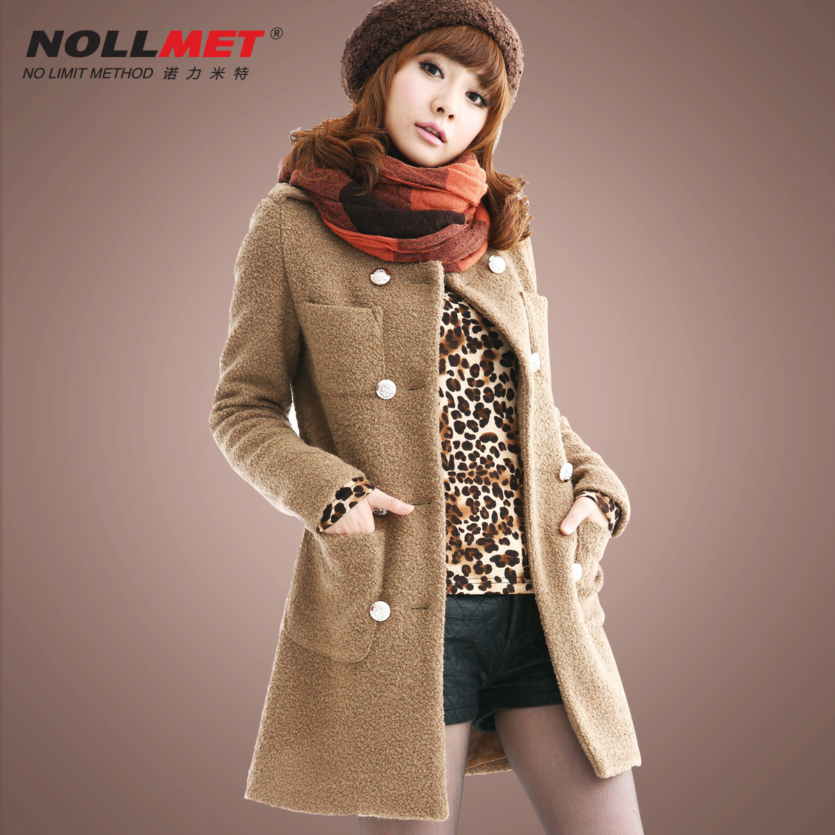 Nuolimite 2013 winter Korean slim spring Barret coat wool jacket coat women N110109