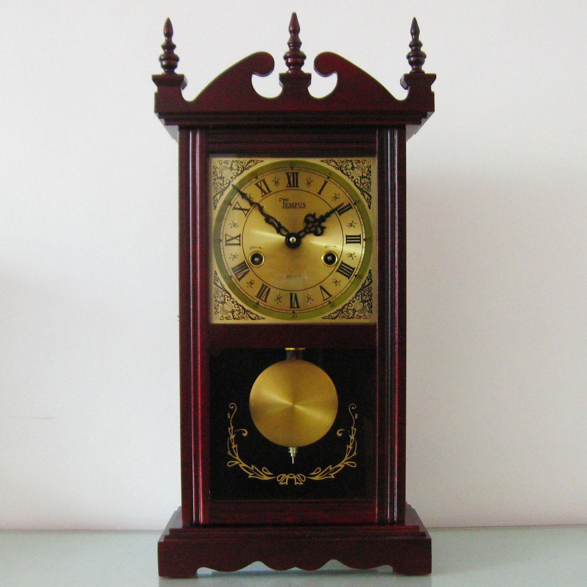 韵豪机械座钟/实木外壳/纯铜机芯/老式机械座钟/收藏珍品图片