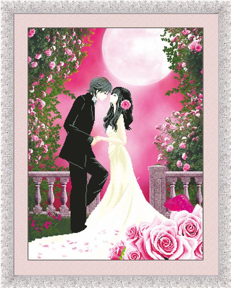 5d精准印花新婚结婚婚礼十字绣画大幅最新款客厅卧室玫瑰喜庆系列