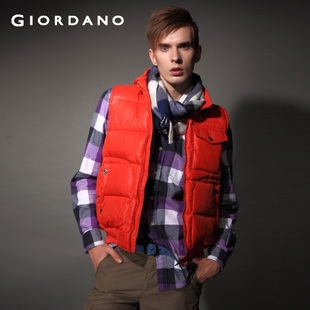 2012 Giordano jacket down vest men's sense of fun with tide rib foot 01071569