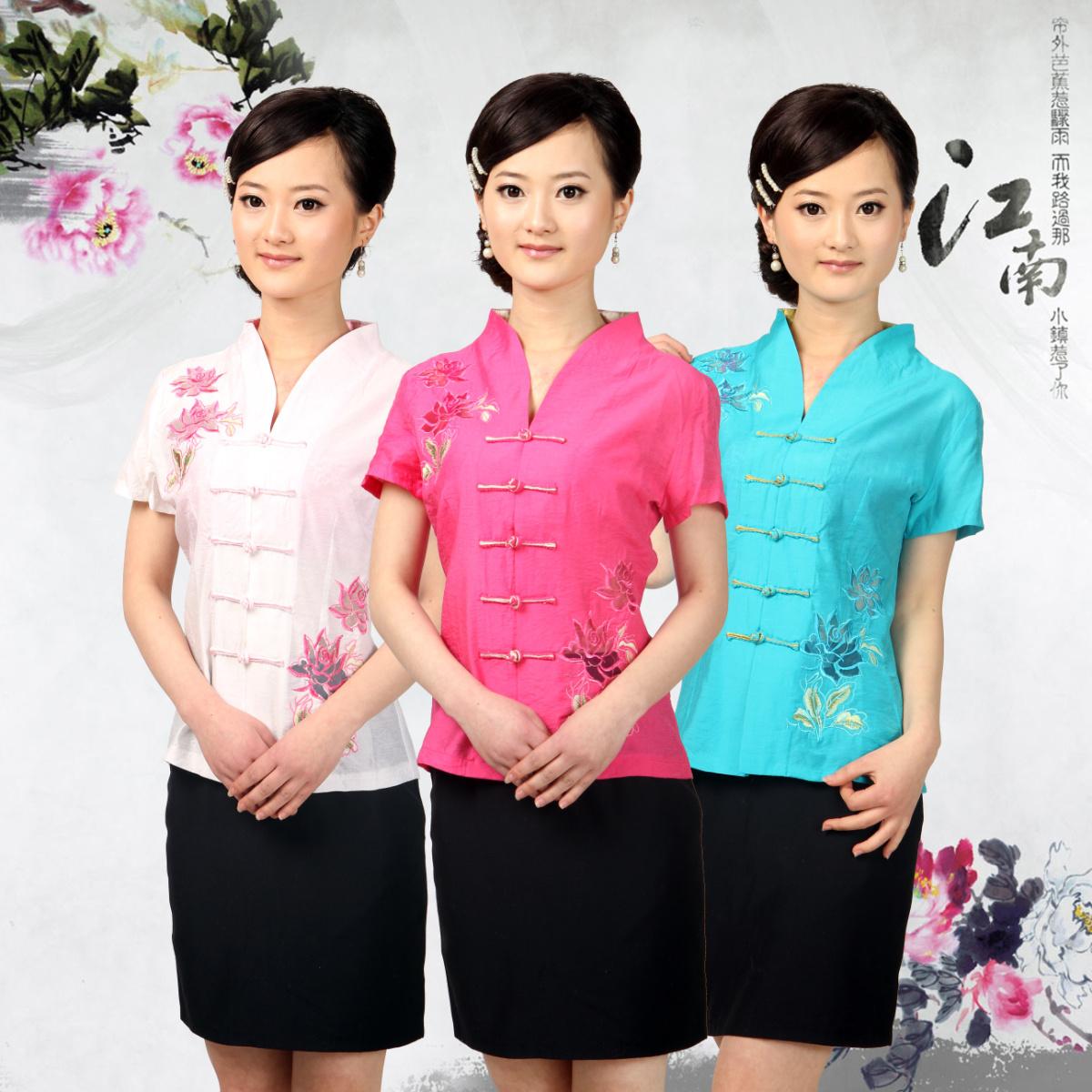 Блузка в китайском национальном стиле Wenyixuanxin td072