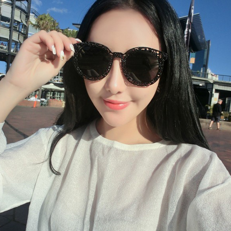 0a02c25d30 E11 reflective metal hollow frame influx of male European and American retro  sunglasses UV sunglasses ladies