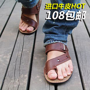 Authentic men's Sandals men s sandal shoe leather Sandals men leather beach waves of men's Sandals boys Sandals clearance