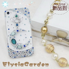!Apple IPHONE 5/4S months  Moon Cellphone Case  Cover  Diamond