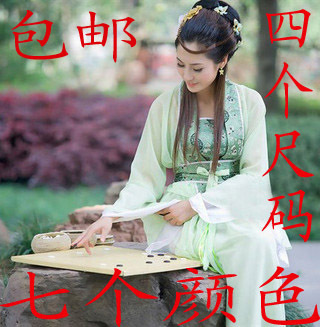 Traditional chaise longue seven fairy dress Chinese clothing ancient zither Photo Studio performance clothing for children of dresses portrait bridesmaid dress