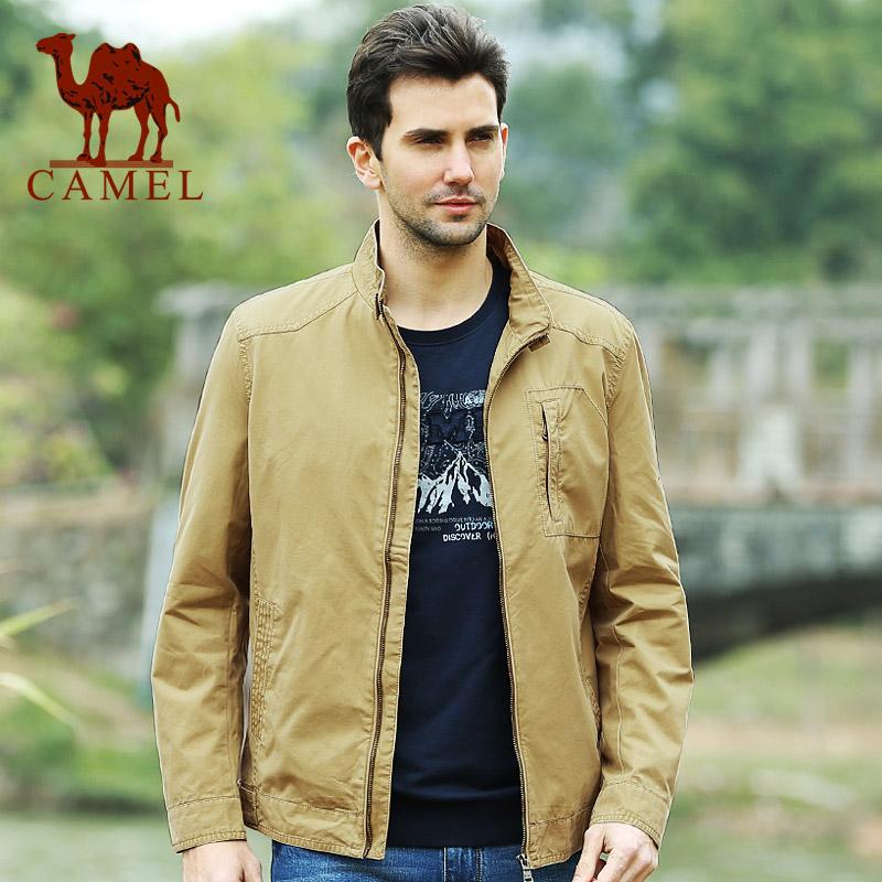 【热销】camel骆驼男装2014秋冬商务休闲立领男士服装夹克外套