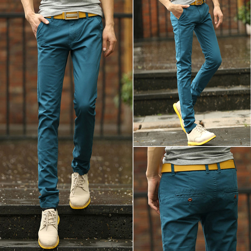 Summer new semir cotton men's trousers slacks teenagers student thin trousers Taobao Agent