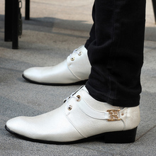 Happy street WJ - 6612 New England wingtip shoes euro man low help shoes trend metal elements