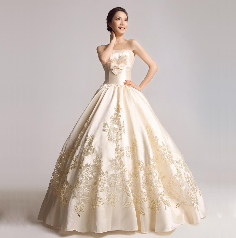 佳妮坊婚纱礼服新款2013皇室公主镂空缎面婚纱孕妇婚纱2011F991