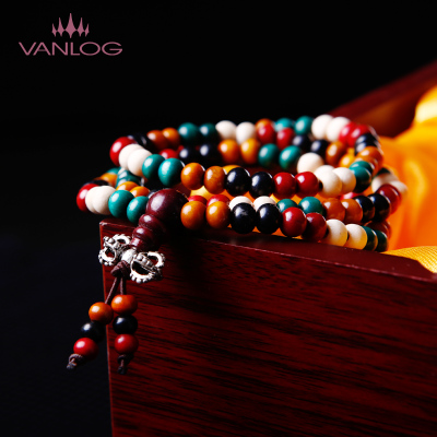 Los Vatican Palace 108 multicolored beads ebony beads bracelet bracelets men and women bracelet retro Buddha beads