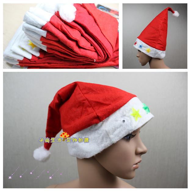 Новогодняя шапка Рождественские подарки Рождество шляпы Рождество украшения Детская Электронная вспышка лампы одеваются шляпа