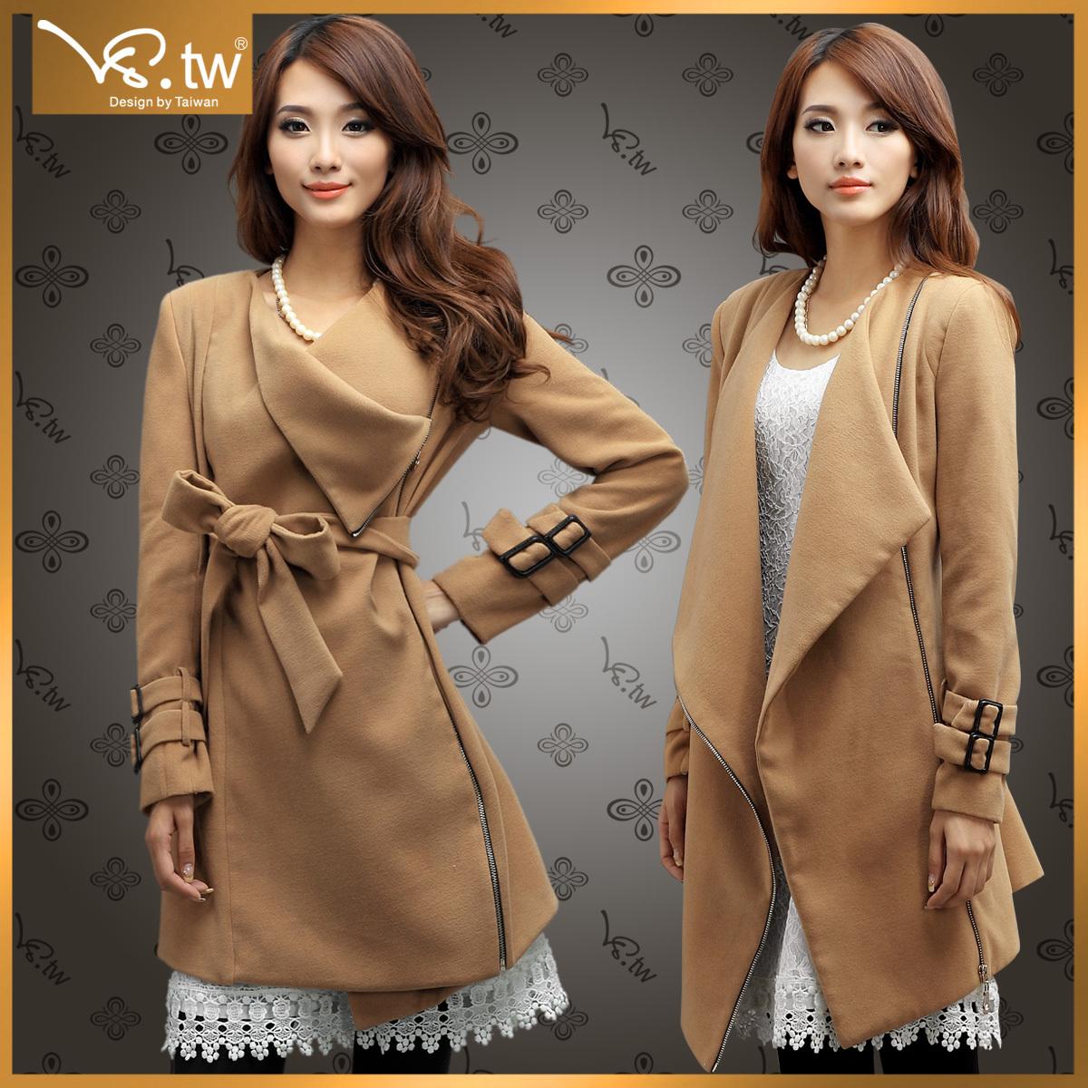 женское пальто VS.TW s2242 VS.tw2012 Зима 2012 Средней длины (65 см <длины одежды ≤ 80 см) VS.TW Длинный рукав Классический рукав