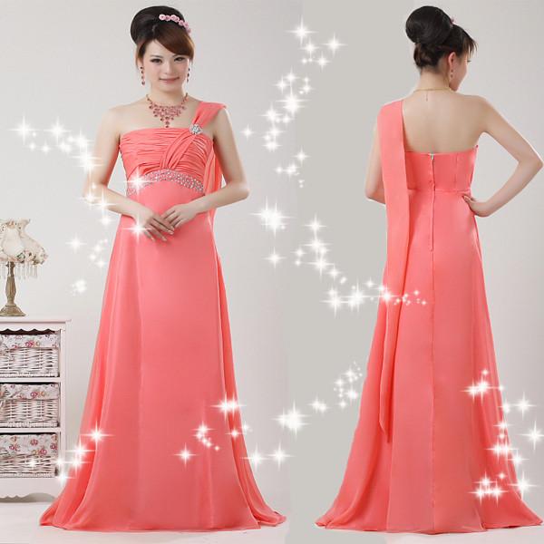 花花新娘 婚纱礼服 敬酒服 修身礼服 红色 长款晚礼服 TG017