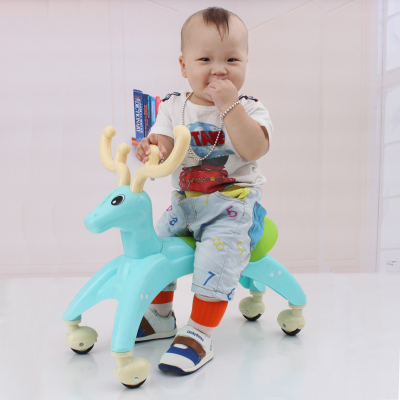 Fawn yo child car seat glide ride scooter senior deer fawn walker toy car stroller shilly