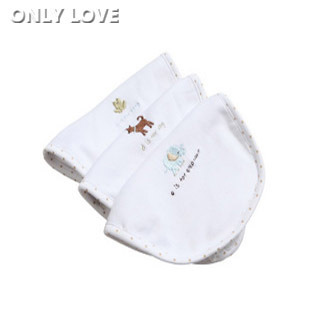 2012 new baby soft baby double-layer waterproof saliva towel bib bib three cotton with dark buckle DB28