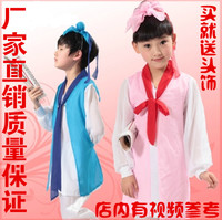 儿童演出服古装书童汉服国学三字经男女学生弟子规舞蹈表演服装