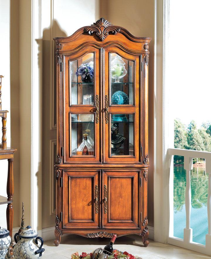 田园风格家具套装美斯特订制美式欧式实木家具展示柜酒柜yt-1060图片