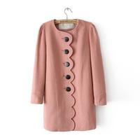 欧时力正品冬装新款女装 时尚修身毛呢外套 羊毛呢子大衣