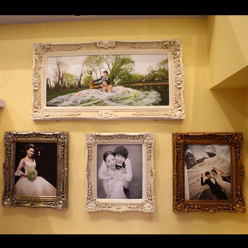 油画相框批发 欧式复古白 挂墙画 装饰画框 仿古白色图片