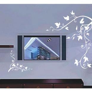 筱妖时尚家装 书房沙发背景壁贴画 客厅电视背景墙贴纸 飘之叶