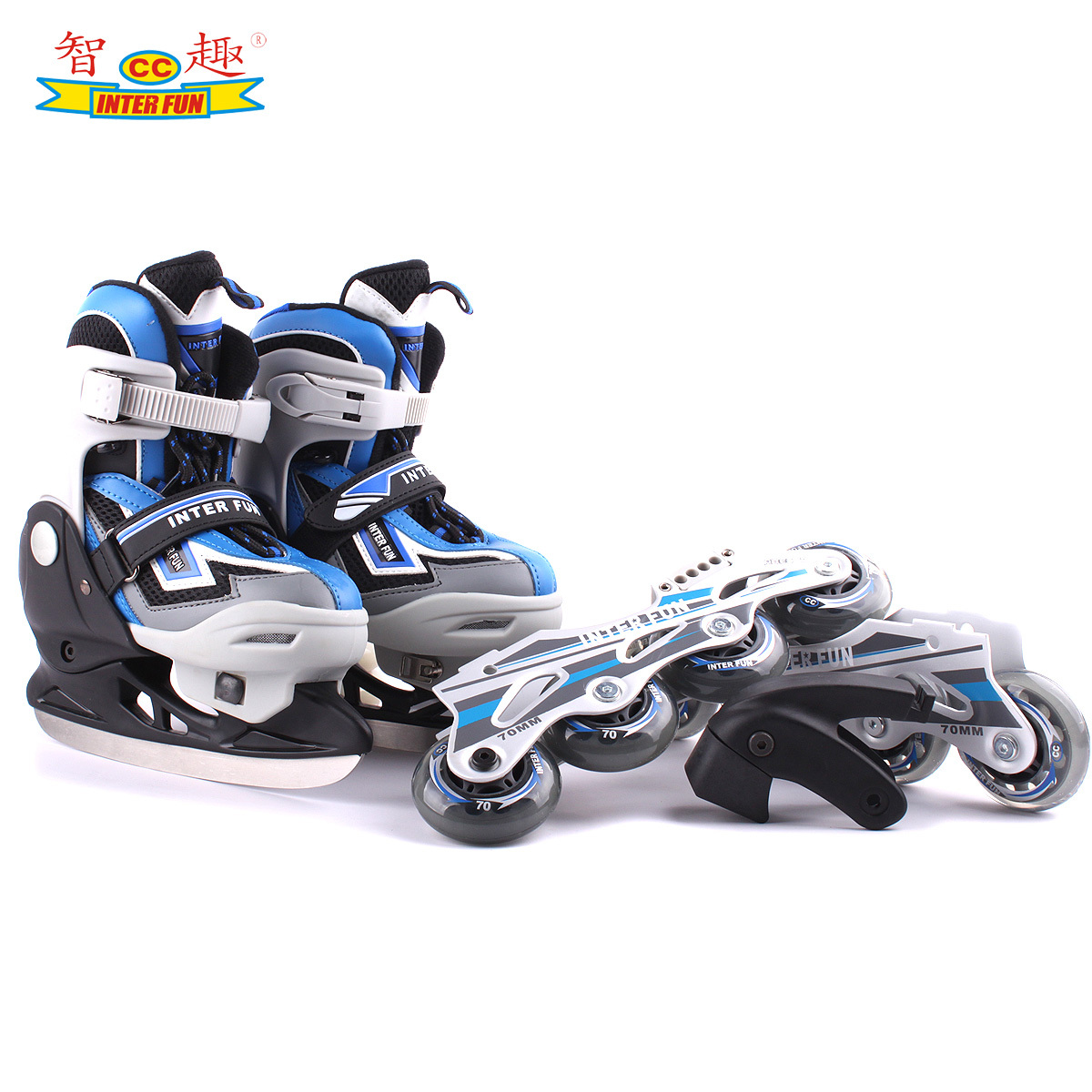 Mentally interesting authentic skate shoes/skates adjustable dual-use code children skate shoes available in adult roller skates