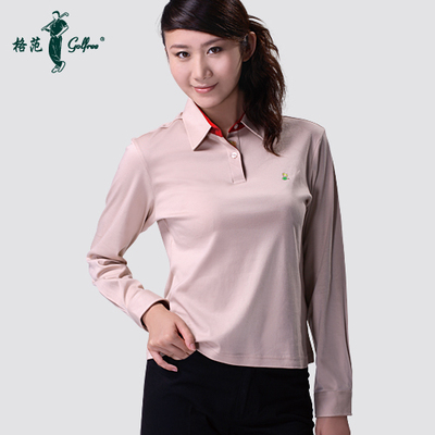 Golf clothing women long sleeve mercerized Egyptian cotton / Autumn Chrysanthemum long-sleeved T-shirt Paradigm