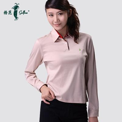 Golf clothing women long sleeve mercerized Egyptian cotton / Autumn Chrysanthemum long-sleeved T-shirt Paradigm