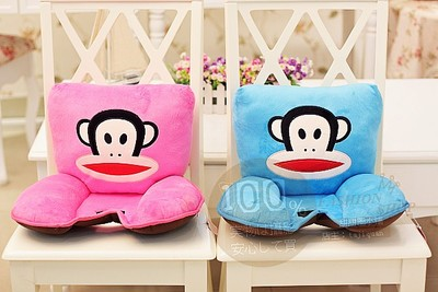 Lovely big mouth thick cushion pad cushion lumbar seatback send girls day gift two color options