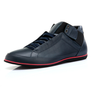 VOGU HOMME Vigo high in  spring and summer  new real leather men's shoes casual fashion short boots men