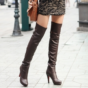 Special clearance crazy grab genuine over- knee boot bag mail temperament boots high heel women boots high boots