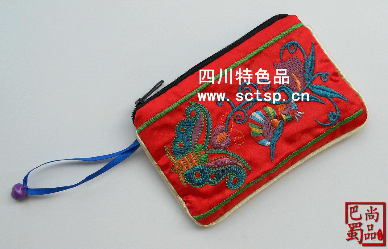 99 -    - 所属类目:地区特色工艺品 牡丹红刺绣花蜀绣围巾围脖丝巾图片