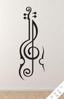 音乐音符小提琴教室幼儿园学校琴行乐器琴室卧室儿童房墙贴贴纸画