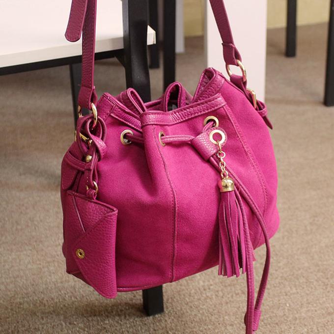 Сумка Высокое качество! Мешок конфет цветной глазурью с открытым сумка сумка Сумка через плечо Однотонный цвет Искусственная кожа