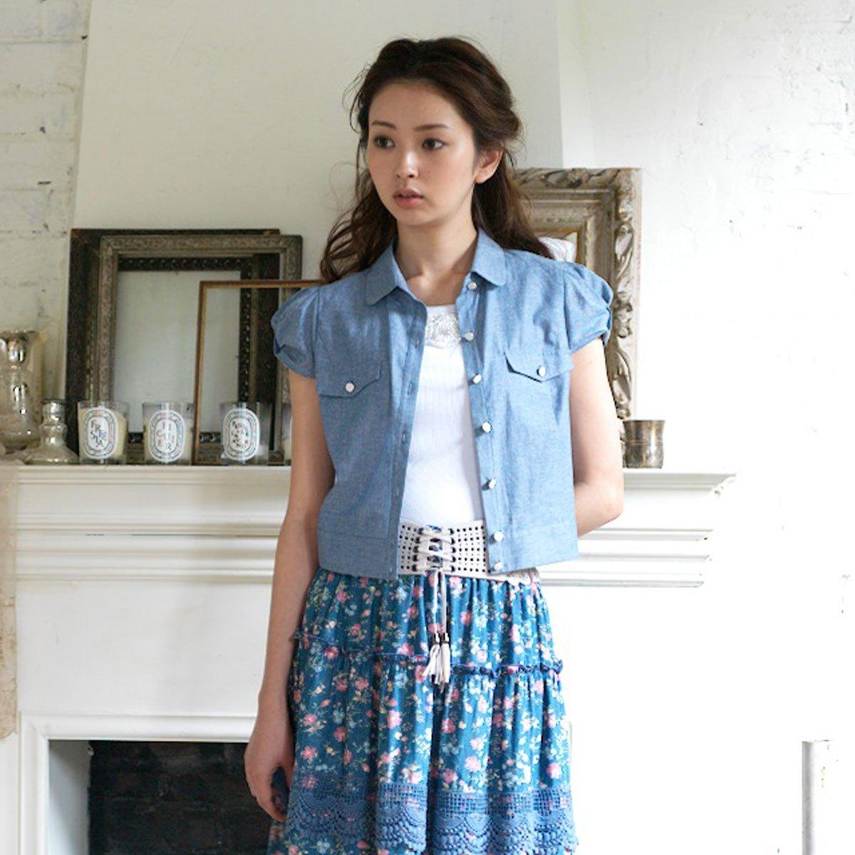 женская рубашка Goelia 103r314 2011 Повседневный Короткий рукав Однотонный цвет