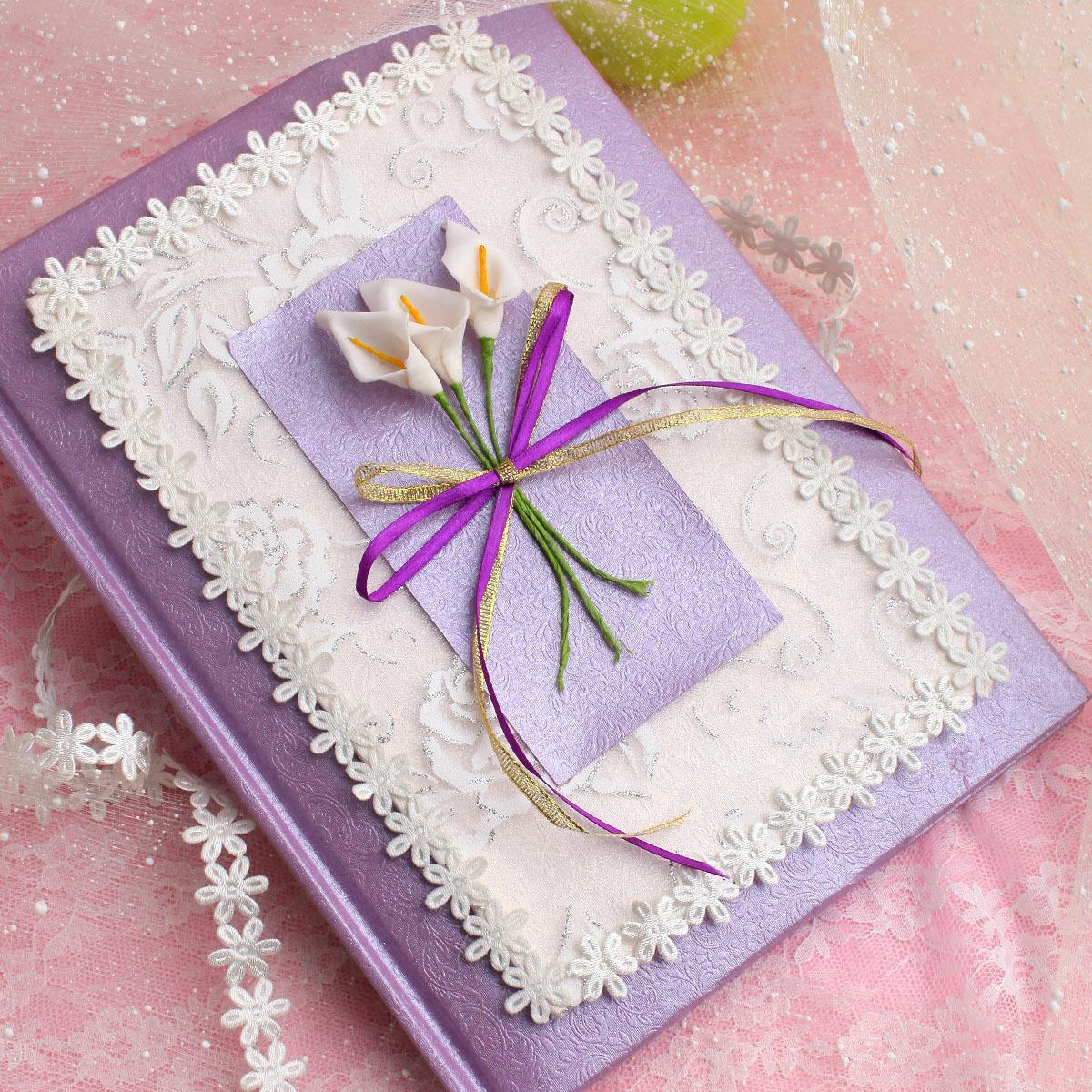 婚庆用品婚礼礼金册簿本签到签名题名本册带格欧式韩式创意紫色