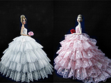 Barbie doll clothes can children Liv variety of high-end wedding dress /Wedding 5 shipping