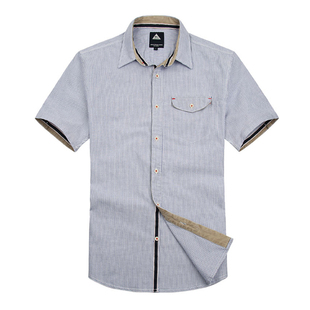 New high-end series adhere to  quality of cotton in  early summer stripe short sleeve shirts men's casual shirt S6100