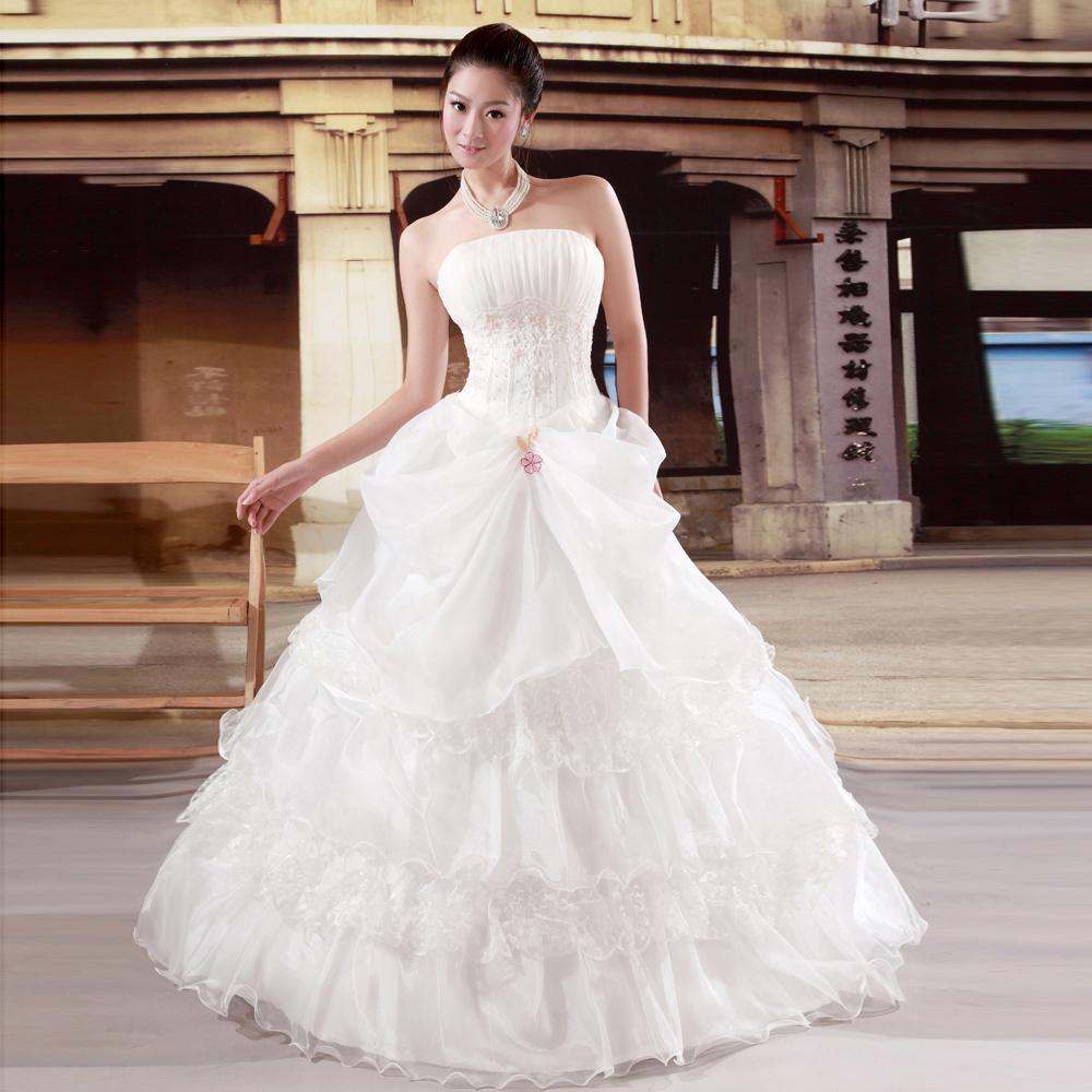 Свадебное платье Mecochy 539 2012 2011 Ткань кристалл Принцесса с кринолином Корейский