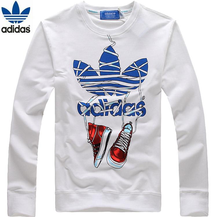 adidas/阿迪达斯 男运动长袖t恤热销三叶草正品男子纯棉圆领T恤