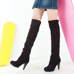 Special offer clearance crazy grab genuine stamp women boots high boots knee boots high heel boots codes