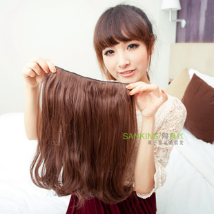 Is non-mainstream wig long black hair fluffy girl wig-a PEAR-head hair