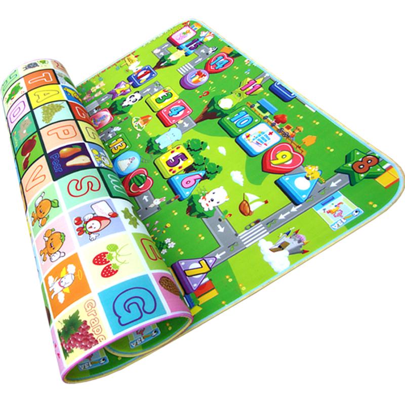 包邮 青沐鱼宝宝爬行垫 婴儿爬爬垫加厚1cm儿童爬行毯游戏垫地垫