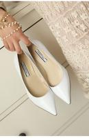 韩版2015春夏6CM尖头高跟鞋OL性感细跟糖果色甜美漆皮女单鞋