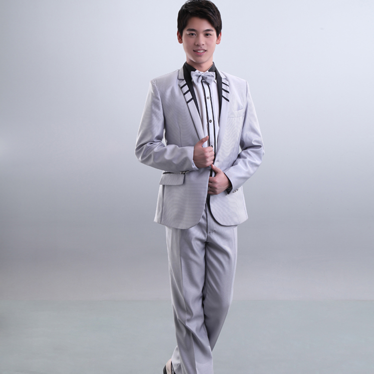 Sweetie new men's dress suit wedding ceremony the groom dress new male host clothing