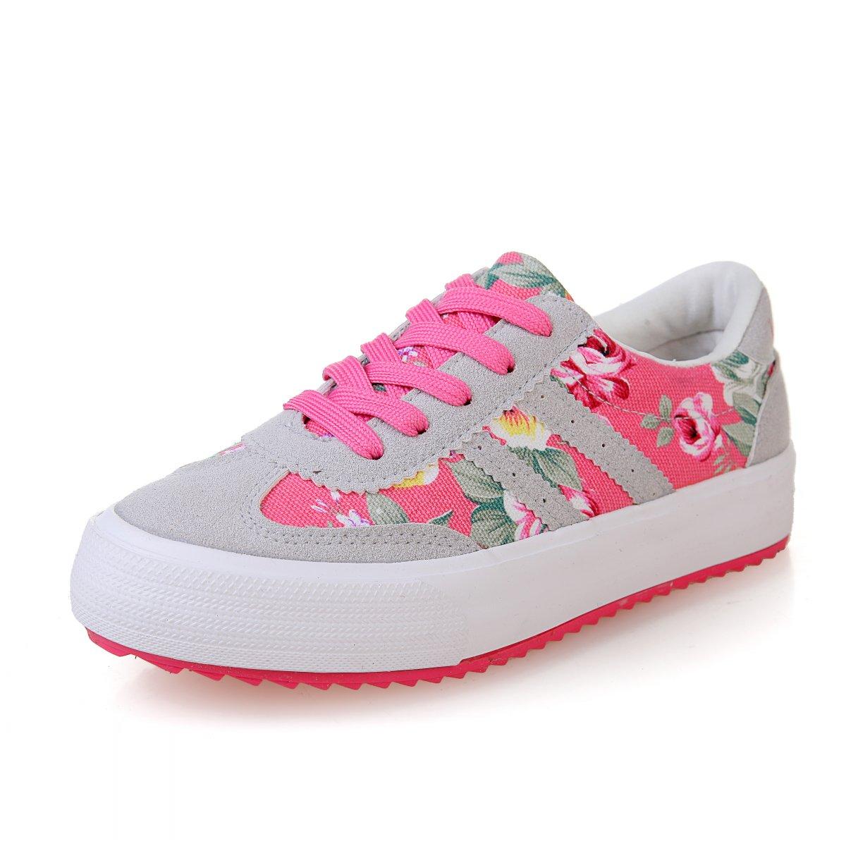 包邮春季新款低帮碎花拼色帆布鞋女韩版潮女士休闲球鞋板鞋学生鞋