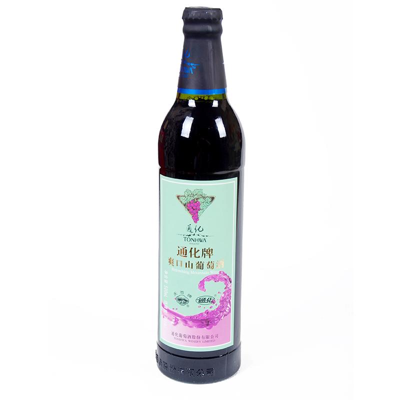 通化爽口山葡萄酒500ml瓶 经典国产红酒女士用酒